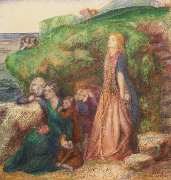 Sir Patrick Spens 1856 by Elizabeth Eleanor Siddal 1829-1862